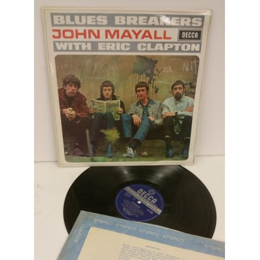 """JOHN MAYALL with ERIC CLAPTON Blues breakers """"BEANO"""" cover. STEREO. Unboxed B..."""