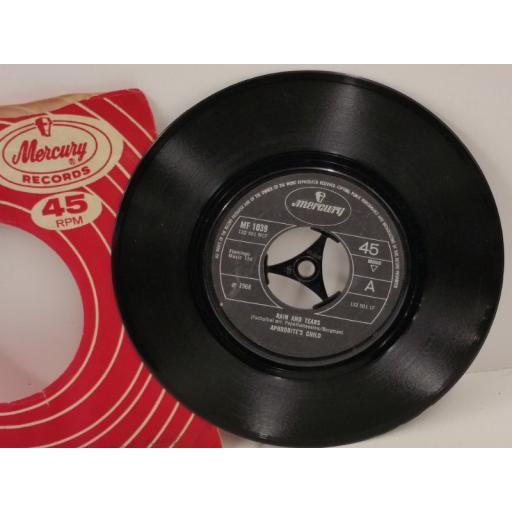 APHRODITE'S CHILD rain and tears, 7 inch single, MF 1039