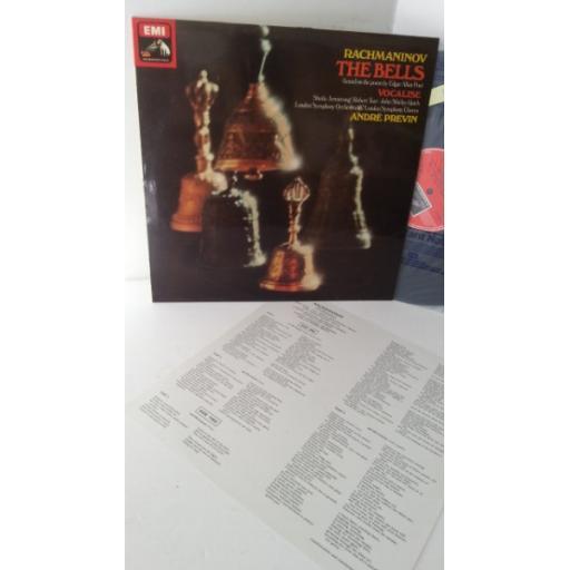 RACHMANINOV, ANDRE PREVIN, LONDON SYMPHONY ORCHESTRA & LONDON SYMPHONY CHORUS the bells, lyric insert, ASD 3284