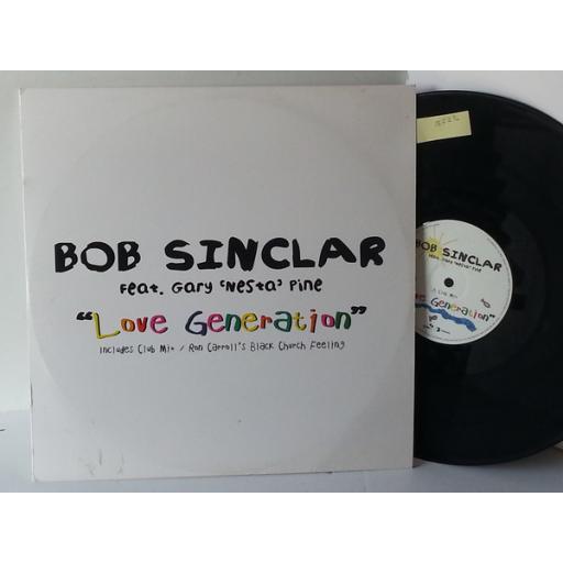 BOB SINCLAIR FEAT GARY NESTA PINE love generation, DFTD111