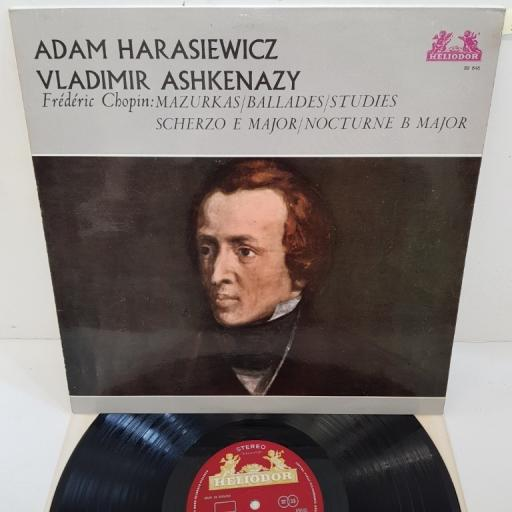 "Adam Harasiewicz / Vladimir Ashkenazy, Frédéric Chopin – Mazurkas / Ballades / Studies / Scherzo E Major / Nocturne B Major, 89 646, 12"" LP"