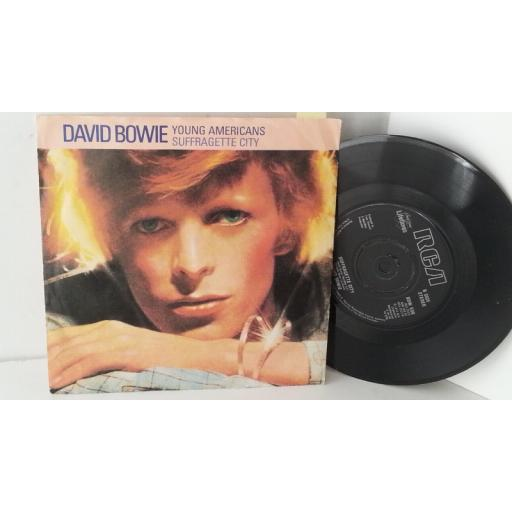 DAVID BOWIE young americans / suffragette city, 7 inch single, BOW 506