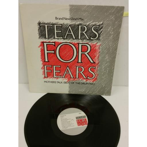 TEARS FOR FEARS mothers talk (beat of the drum mix), 12 inch single, IDEAR 712