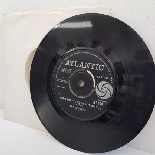 "THE DRIFTERS, under the boardwalk, B side I don't want to go on without you, AT 4001, 7"" single"