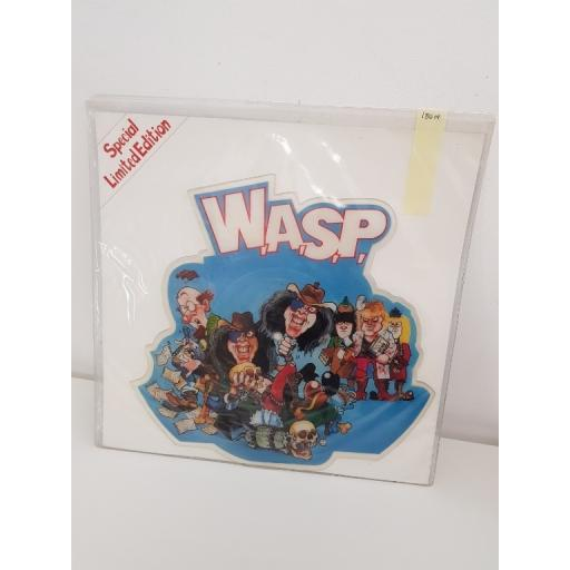 W.A.S.P the real me, lake of fools, CLPD 534, SHAPED VINYL PICTURE DISC SINGLE