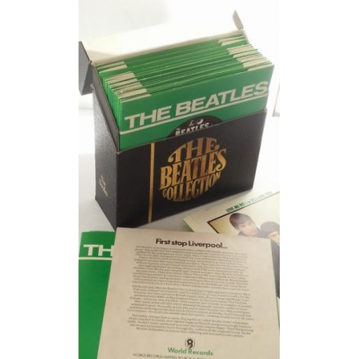 THE BEATLES the beatles collection, box set, 24 x 7 inch singles, track list leaflet