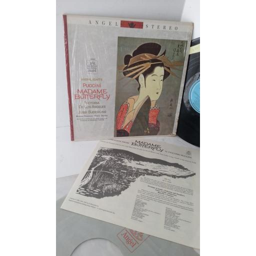 GIACOMO PUCCINI, VICTORIA DE LOS ANGELES, JUSSI BJOERLING, MIRIAM PIRAZZINI, MARIO SERENI, GABRIELE SANTINI highlights puccini madame butterfly, libretto, S 35821.