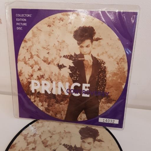 "PRINCE, controversy, B side the future remix, W0215P, PICTURE DISC 7"" single"
