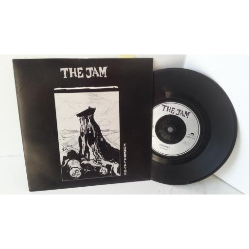 THE JAM funeral pyre, 7 inch single, POSP 257