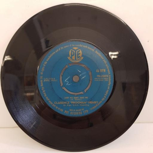 "CLARENCE FROGMAN HENRY, but I do, B side just my baby and me, 7N.25078, 7"" single"