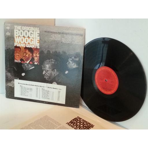 The Original Boogie Woogie Piani Giants ORIGINAL RECORDINGS 1938-1941, first press on red Columbia label