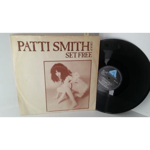 PATTI SMITH GROUP set free, ARIST 12197, 12 inch single