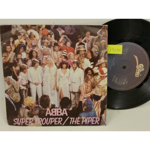 ABBA super trouper / the piper, PICTURE SLEEVE, 7 inch single, EPC 9089