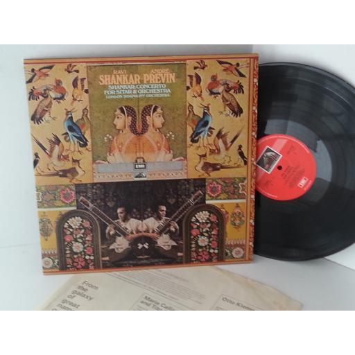 RAVI SHANKAR, ANDRE PREVIN, LONDON SYMPHONY ORCHESTRA sitar concerto, ASD 2752