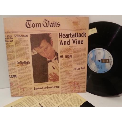 SOLD TOM WAITS heartattack and vine, K 52252