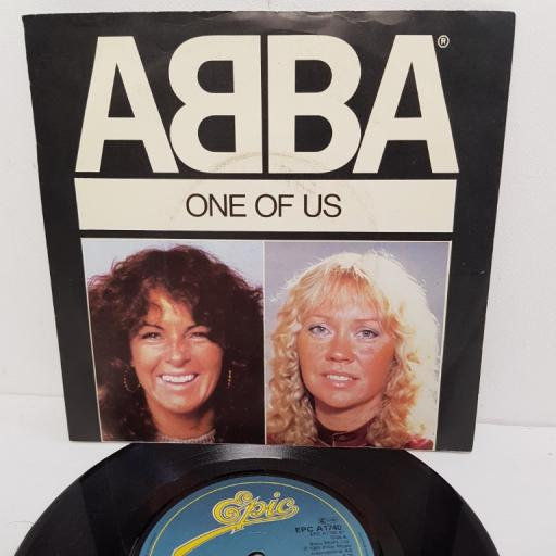 "ABBA, one of us, B side should I laugh or cry, EPC A1740, 7"" single"