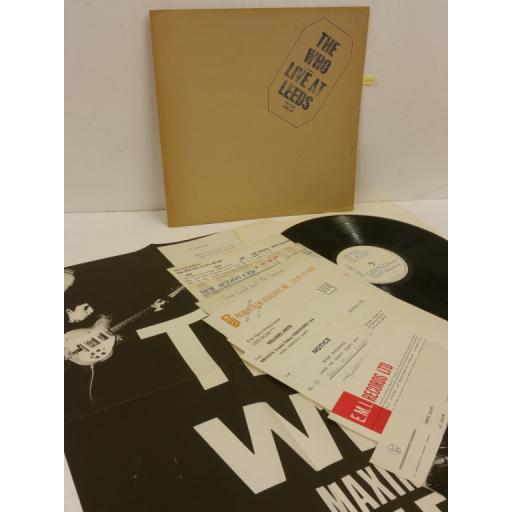 THE WHO live at leeds, gatefold, inserts, 2406 001
