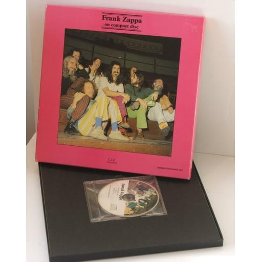 FRANK ZAPPA, on compact disc Interview box