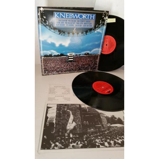 ERIC CLAPTON, PHIL COLLINS, DIRE STRAITS, GENESIS knebworth the album, gatefold, 2 x lp, 843 921-1