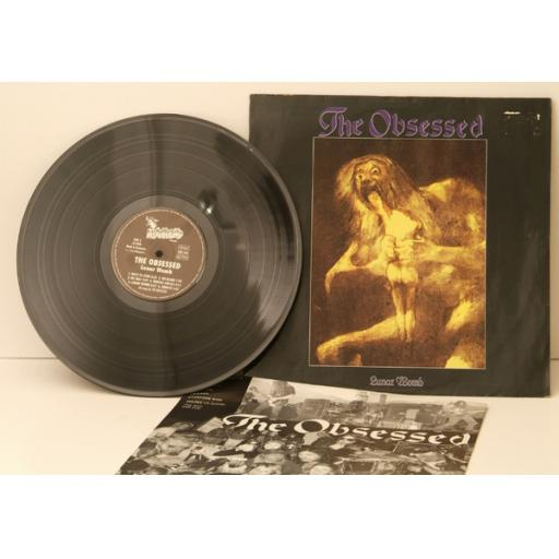 SOLD : THE OBSESSED, lunar womb. Very rare.German. 1991. Matrix.1A, 2A. Record label...
