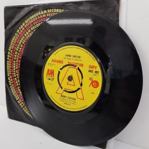 "MERRY CLAYTON, gimme shelter, B side good girls, AMS 802, 7"" single, promo copy"
