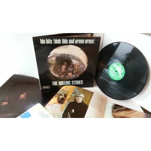 THE ROLLING STONES big hits [high tide and green grass], gatefold, TXS 101, fold out insert