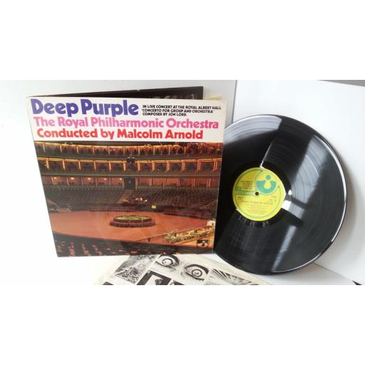 DEEP PURPLE & THE ROYAL PHILHARMONIC ORCHESTRA concerto for group and orchestra, gatefold, SHVL 767