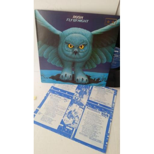 RUSH fly by night, 9100 013, lyric insert