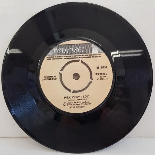 "NORMAN GREENBAUM, spirit in the sky, B side milk cow, RS.20885, 7"" single"