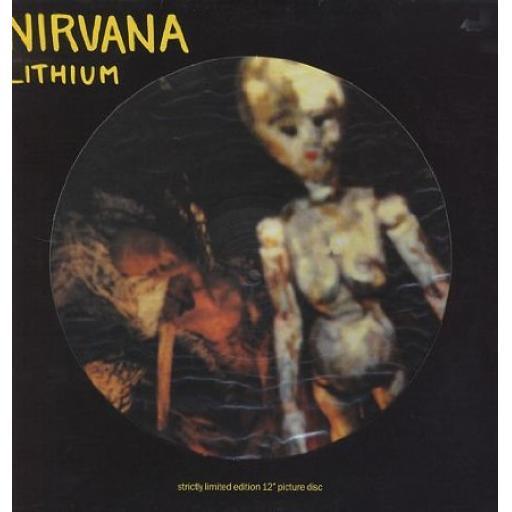 SOLD. : Nirvana, Lithium (Ltd Ed Picture Disc)