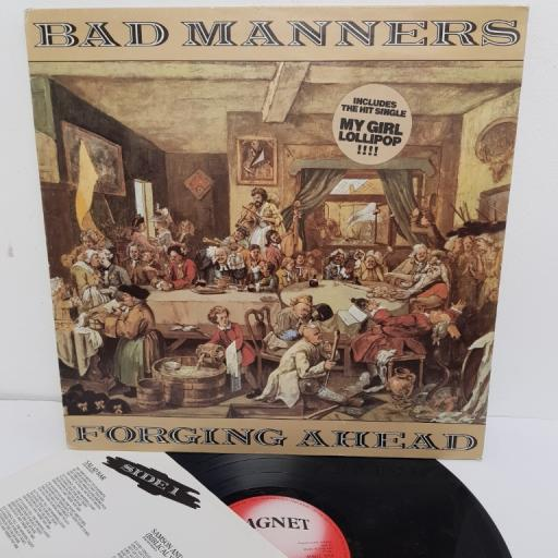 "BAD MANNERS, forging ahead, MAGL 5050, 12"" LP"