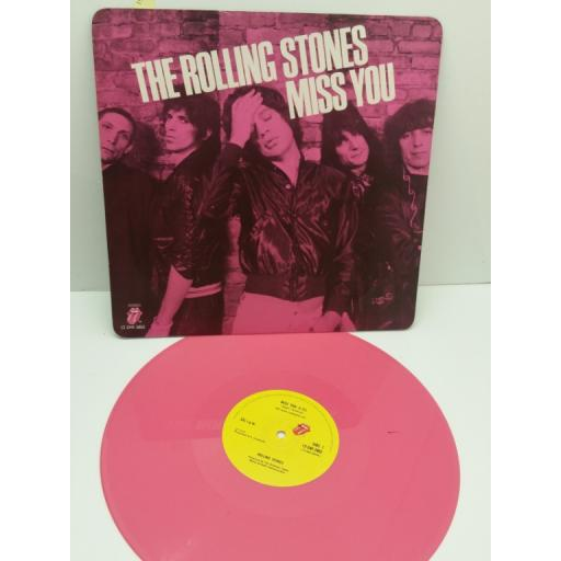 """THE ROLLING STONES miss you ( PINK VINYL 12"""" single ), 12 EMI 2802"""