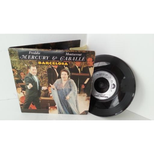 FREDDIE MERCURY & MONTSERRAT CABALLE barcelona, 7 inch single, gatefold, POSP 887