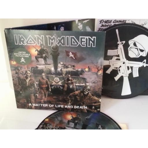 SOLD: Iron Maiden A MATTER OF LIFE AND DEATH, limited edition double picture disc