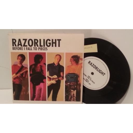 "RAZORLIGHT before i fall to pieces, 7"" single, 1714374"