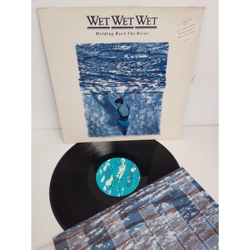 """WET WET WET, holding back the river, 842-011-1, 12"""" LP"""
