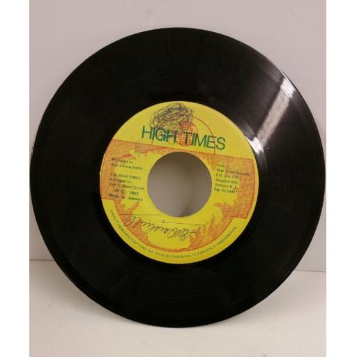 HIGH TIMES PLAYERS, 7 inch single