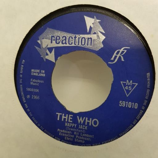 "THE WHO, happy jack, B side I've been away, 591010, 7"" single"