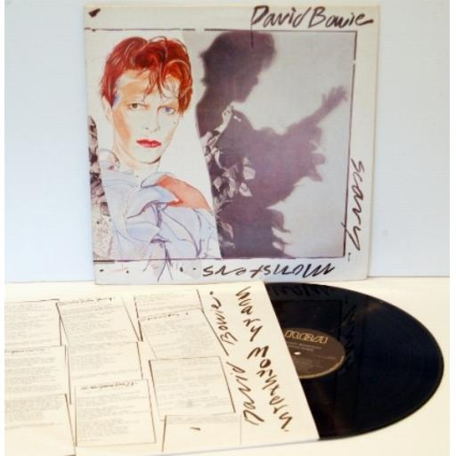 DAVID BOWIE Scary monsters.. ORANGE RCA VICTOR