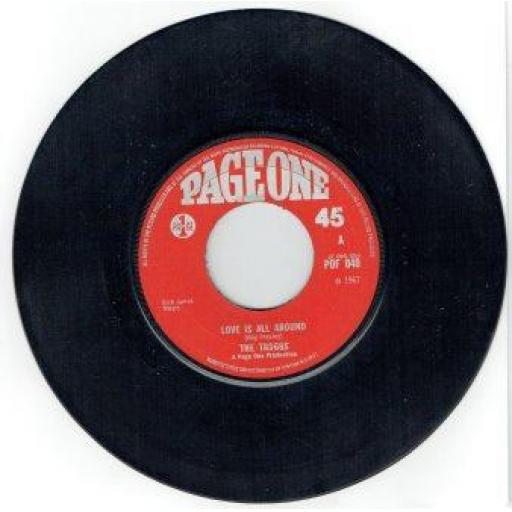 "THE TROGGS, I can't control myself, B side gonna make you, POF 001, 7"" single"