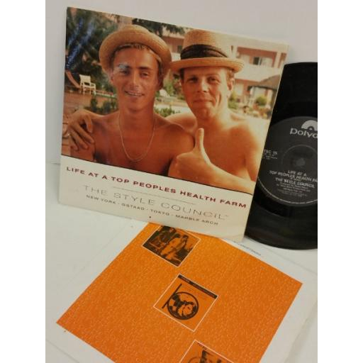 THE STYLE COUNCIL life at a top peoples health farm, 7 inch single, TSC 15