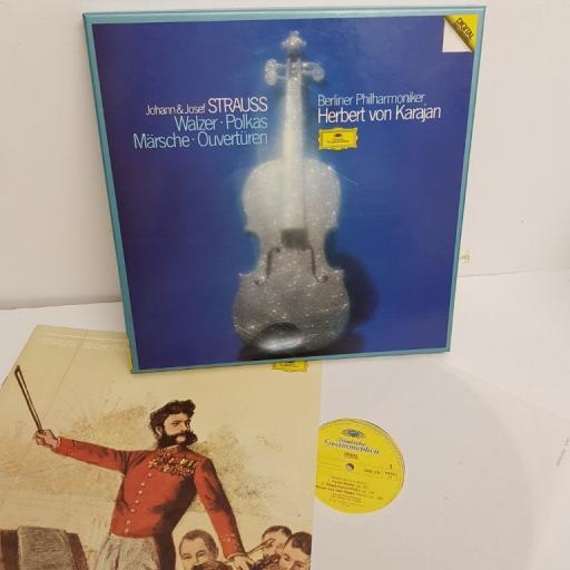 "Johann Strauss, Josef Strauss, Herbert Von Karajan, Berliner Philharmoniker – Walzer • Polkas • Märsche • Ouvertüren, 2741 003, 3x12"" LP, box set"