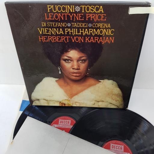 "Giacomo Puccini, Leontyne Price, Giuseppe Di Stefano, Giuseppe Taddei, Herbert Von Karajan – Tosca, 5BB 123-4, 2x12"" LP"