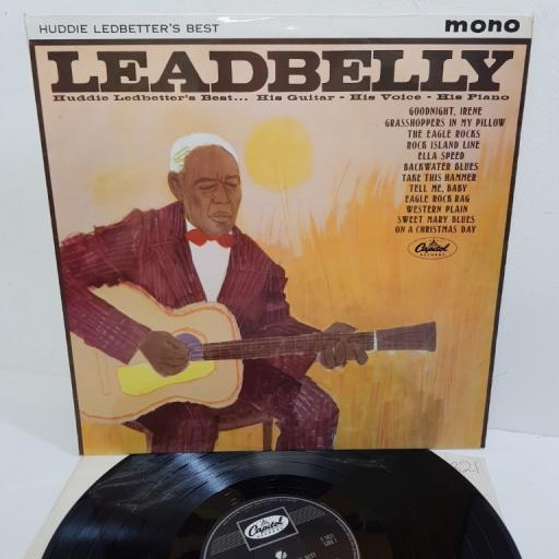 """LEADBELLY, huddie ledbetter's best... his guitar - his voice - his piano, T 1821, 12"""" LP, mono, compilation"""