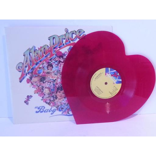 Alan Price BABY OF MINE, 7 inch single JET 12 135, red heart shaped vinyl.