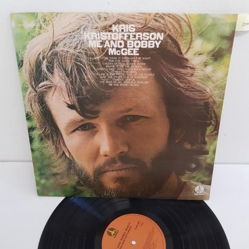 "KRIS KRISTOFFERSON, me and bobby mcgee, MNT 64631, 12"" LP"