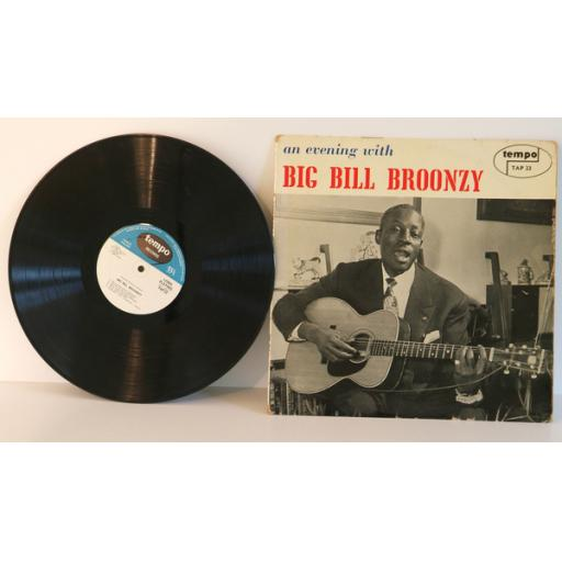 BIG BILL BROONZY, an evening with. VERY RARE. UK 1959. Matrix stamp. 1A, 1B. ...