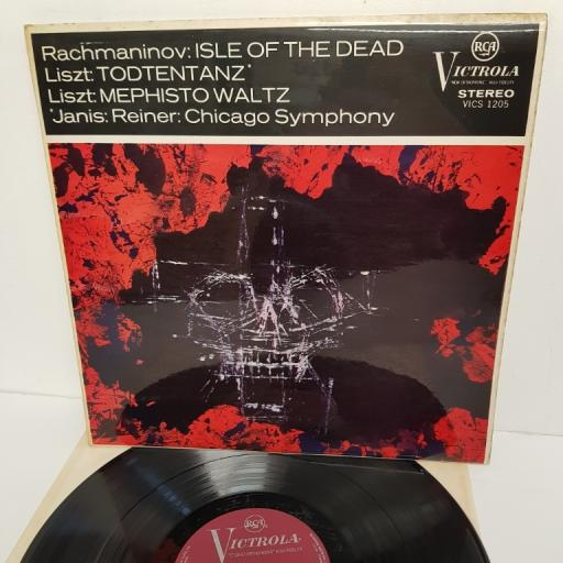 RACHMANIOV, Liszt, Bryron Janis, Fritz Reiner, The Chicago Symphony Orchestra - Isle of the Dead, VICS 1205, 12''LP