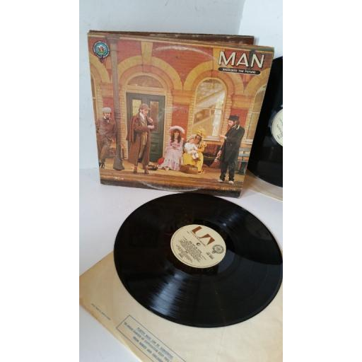 MAN back into the future, gatefold. 2 x lp, UAD 60053/4
