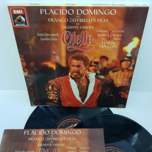 "Giuseppe Verdi, Placido Domingo, Katia Ricciarelli, Lorin Maazel – Otello, EX 27 0461 3, 2X12"" LP, box set"